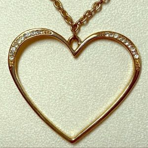 Guess heart and rhinestone necklace